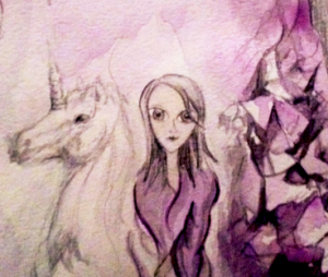 Hybrid Children drawing by Bridget Nielsen with unicorn