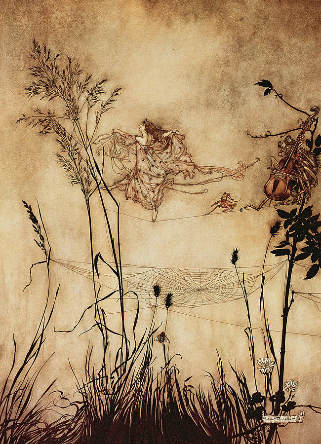 the-fairys-tightrope-from-peter-pan-in-kensington-gardens-arthur-rackham