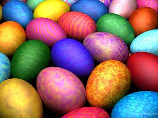 Beautiful multi-colored Easter Eggs