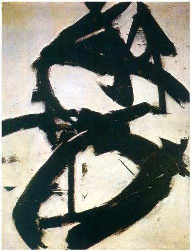 Black and white painting by Franz Kline