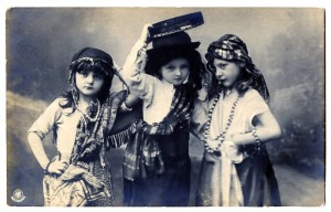 group of creative gypsy children